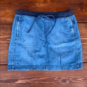 Loft denim-look skirt